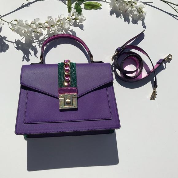 f58a6933b7c Aldo Handbags - Aldo Glenda Purple Satchel Bag